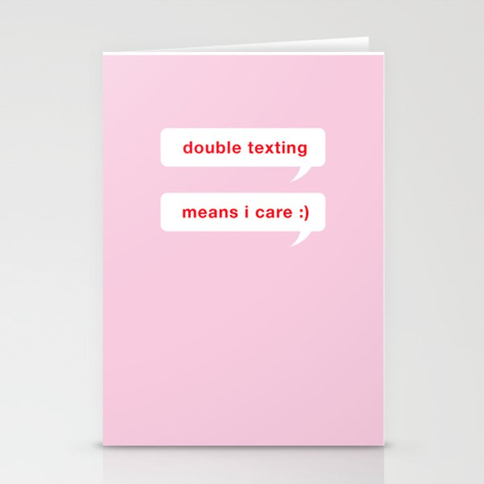 Double Texting Valentine's Day Card Stationery Cards