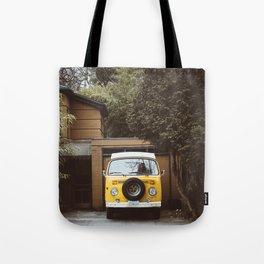 Yellow Van Ready For Road Tote Bag