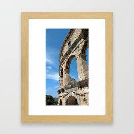pula croatia ancient arena amphitheatre high Framed Art Print