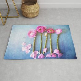 Wild Flowers and Spring Asparagus Rug