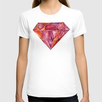 geode T-shirts featuring Million-Carat Ruby by Cat Coquillette
