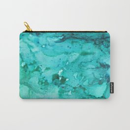Abstract Aqua Carry-All Pouch