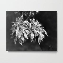silver glowing leaves Metal Print