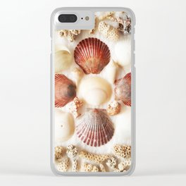 Scallops + Coral x Lucina Clear iPhone Case