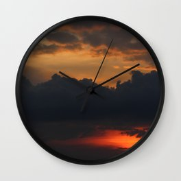 Red | sky photography Wall Clock