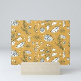 Christmas Winter Pine Nuts Leaves Plant Nature Gift Mini Art Print