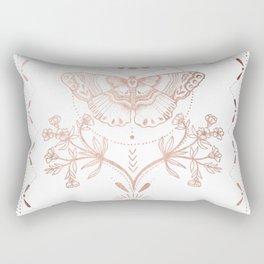 Magical Moth In Rose Gold Rectangular Pillow