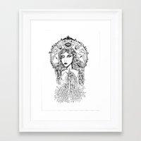 lungs Framed Art Prints featuring Lungs by jemmalobweinart