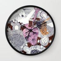scream Wall Clocks featuring Scream by doviArt