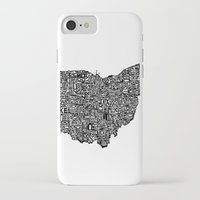 ohio state iPhone & iPod Cases featuring Typographic Ohio by CAPow!