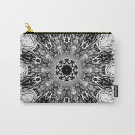Blac White Mandala Abstract Carry-All Pouch