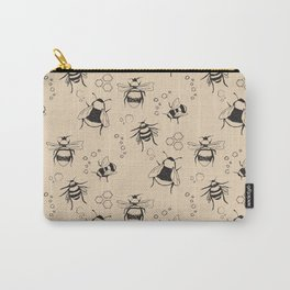 Honeybee Pattern Carry-All Pouch