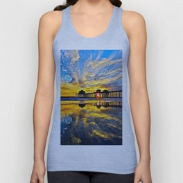 Sunset ~ Huntington Beach Pier CA  11/7/13 Unisex Tank Top