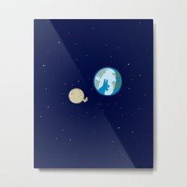 Rabbit on the moon? Metal Print