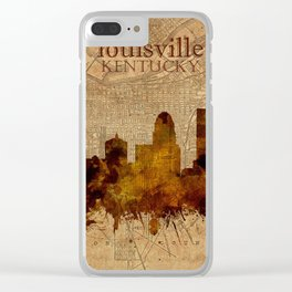 louisville skyline vintage 4 Clear iPhone Case