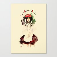 princess mononoke Canvas Prints featuring Mononoke by chuma hill