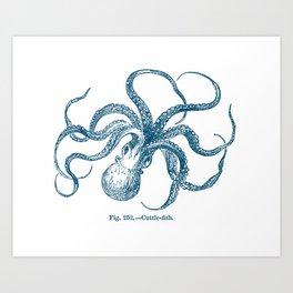 navy cuttle-fish Art Print