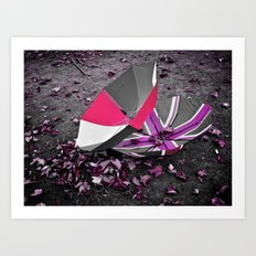 She came in with the Autumn wind- pink Art Print