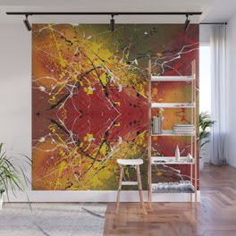 INNERGLOW - Abstract painting design, colorful splash art, Large canvas art Wall Mural