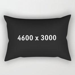 3000x2400 Placeholder Image Artwork (Squarespace Black) Rectangular Pillow