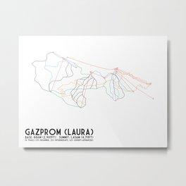 Gazprom (Laura) Mountain Resort, Sochi, Russia - North American Edition - Minimalist Trail Art Metal Print