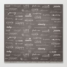 Life on a Chalkboard Canvas Print