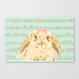 Bunny Composition (gold/mint) Canvas Print