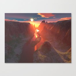 Sunset at the canyon Canvas Print