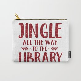 Jingle All The Way To The Library (Red) Carry-All Pouch
