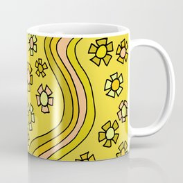 Retro Flower Power Flow by surfy birdy Coffee Mug