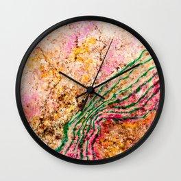 Heart borders Wall Clock