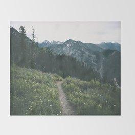 Happy Trails III Throw Blanket
