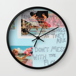 stick to the status quo Wall Clock