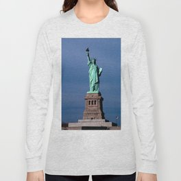 Statue Of Liberty Shines Her Spirit Long Sleeve T-shirt
