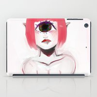 cyclops iPad Cases featuring Pink Cyclops by Thais Magnta Canha