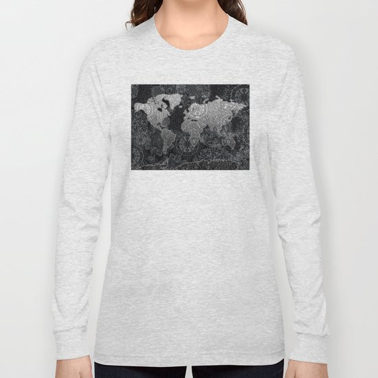 world map mandala black and white 3 by bekimart