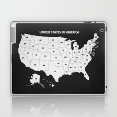 Black & White U.S.A. Map Laptop & iPad Skin