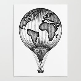 EXPLORE. THE WORLD IS YOURS. (No text) Poster