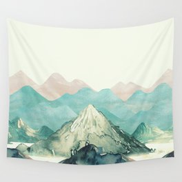 Mountains Landscape Watercolor Wall Tapestry