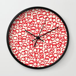 Black Tie Collection Links Red Wall Clock