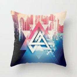 City Sounds Throw Pillow