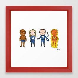 Super Cute Heroes: Fantastic Four Framed Art Print