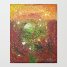 psychedelic canyon Canvas Print
