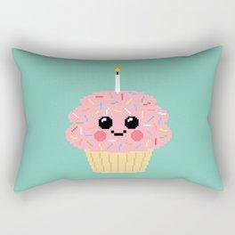 Happy Pixel Cupcake Rectangular Pillow