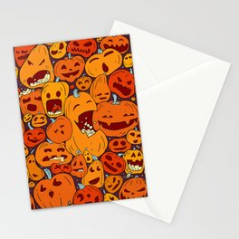 Halloween pumpkin pattern Stationery Cards