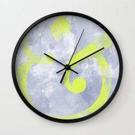 Grungy Ampersand Wall Clock