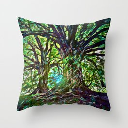 Bur Oak Canopy Dream | Painting  Throw Pillow