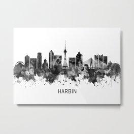 Harbin China Skyline BW Metal Print