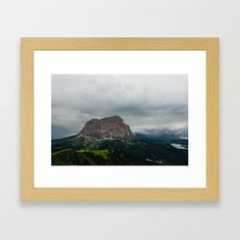 Val Gardena - Sassolungo from Dantercepies Framed Art Print