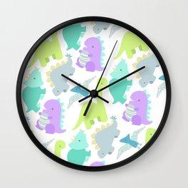 Dinosaur Party Wall Clock